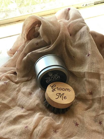 Custom Engraved Wooden Beard Brush, Wooden Beard Brush, Personalized Beard Brush