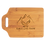 """Thumbnail: 11"""" x 7 3/4"""" Bamboo Cutting Board with Handle, Custom Engraved"""