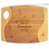 "Thumbnail: 13 3/4"" x 11"" x 5/16"" Bamboo Two Tone Cutting Board with Handle, Engraved"
