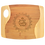 """Thumbnail: 9"""" x 11"""" x 5/16"""" Bamboo Two Tone Cutting Board with Handle, Personalized"""