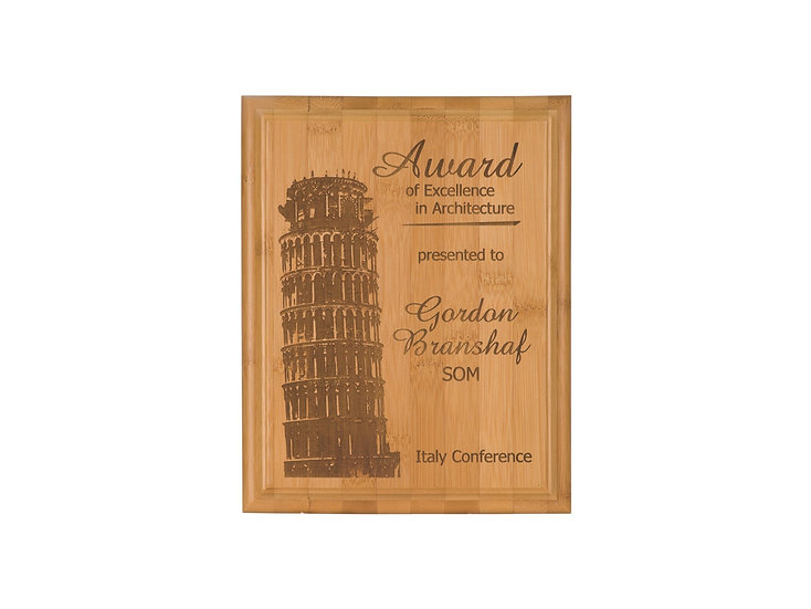 Personalized Wood Finish Plaque, Awards, Engraved Recognition, Appreciation Gift