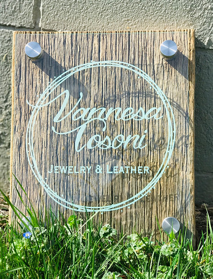 Personalized Acrylic Sign, Custom Jade Acrylic Standoff Sign, Engraved LED Sign