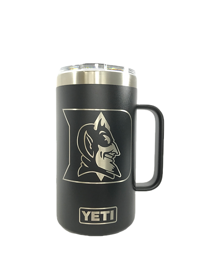 Custom Engraved 24oz YETI Mug with Handle, Personalized Travel Mug
