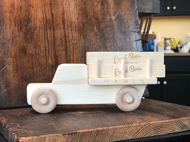 Handmade Logging Truck Toy, Wooden Truck, Personalized Baby Toy, Trucks for kids