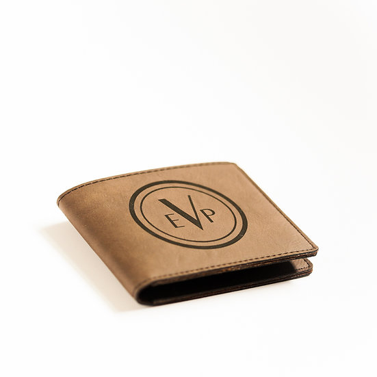 Personalized Leatherette Bi-Fold Wallet, Custom Gifts for Him