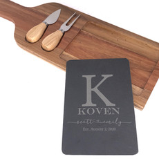 Charcuterie Board with Slate Insert
