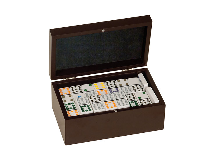 Rosewood Domino Game Box, Personalized Engraved, Gifts, Gifts for Family