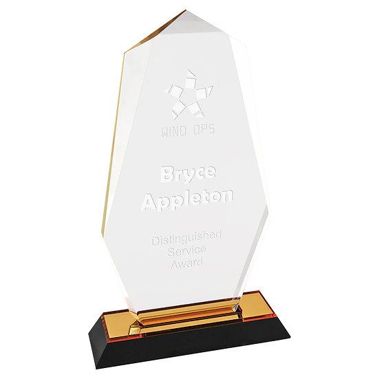 Octagonal Point Acrylic Award, Promotional Awards, Employee Recognition