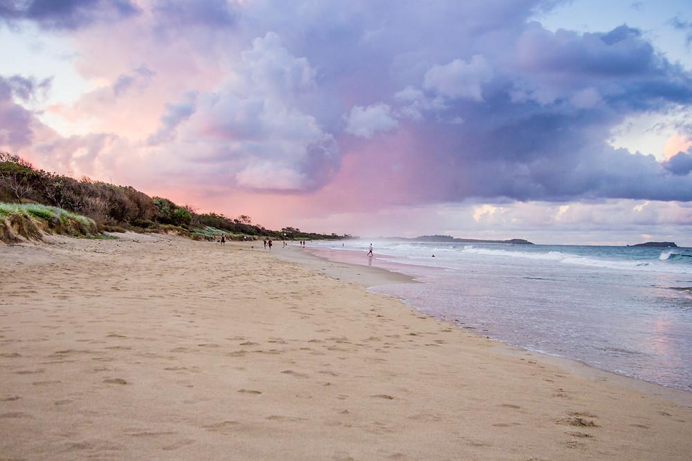 Kingscliffe Beach at sunset