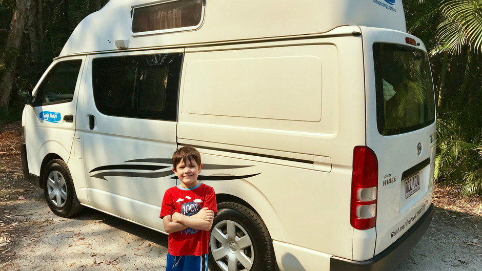 Travelling in a Campervan with a 5 Year Old - What we did in Boreen Point, Noosa