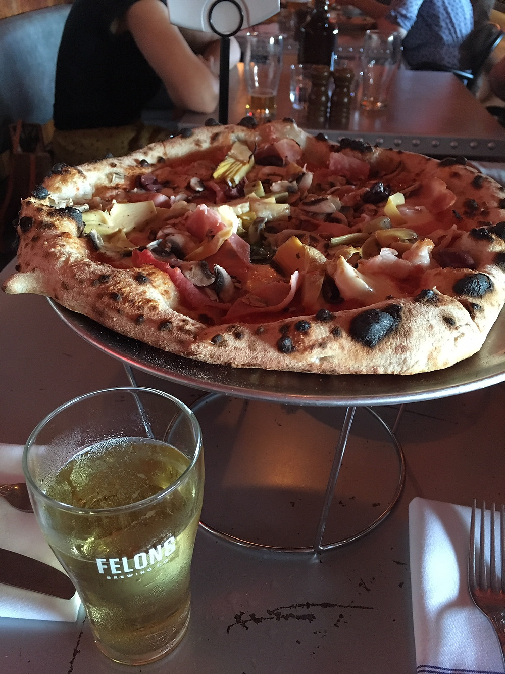 Pizza at Felons Brewing Co