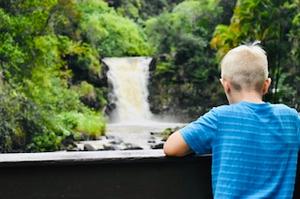 Waimea Falls in Waimea Valley Hawaii