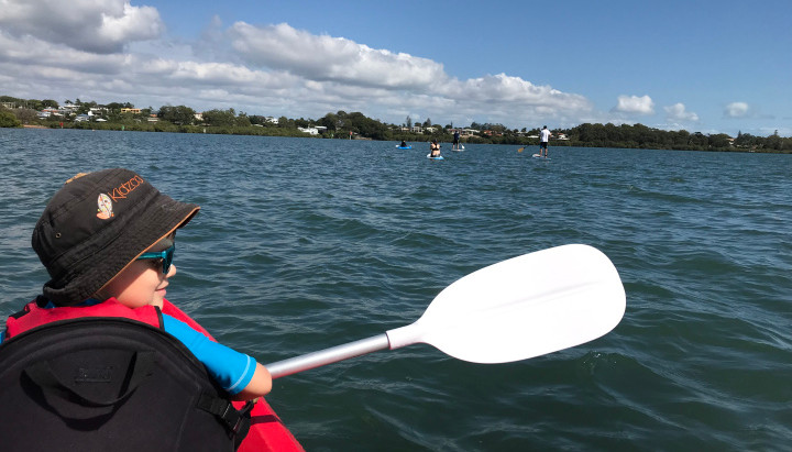 Kayaking with Kids in Raby Bay