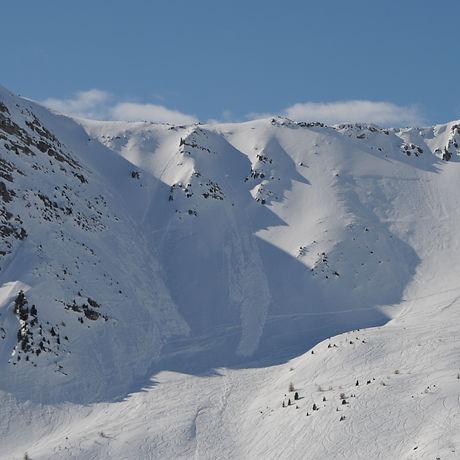 terrain favorisant le départ des avalanches à Vars