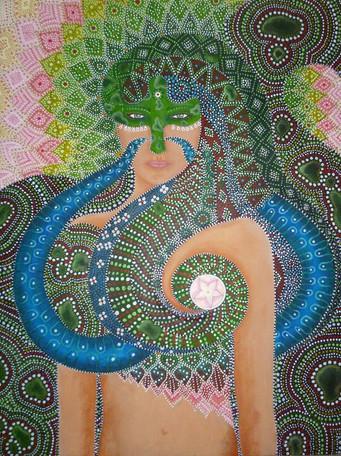 Schlangen Frau