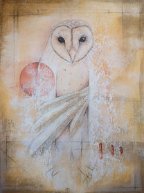 Spirit Animal Art, Spirit Animal Owl, Spiritual Art, Shamanic Art, Shamanism