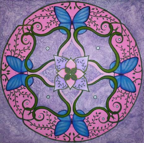 Schmetterlings Mandala 2