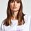 Thumbnail: Essentiel Zyad T-shirt White/lila  Oversized Voulez Vous