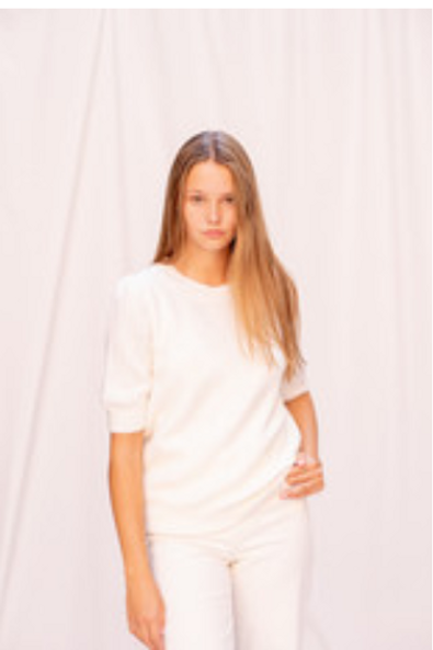Karla Short Sleeve Off White
