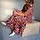 Thumbnail: Ellen Dress Orange-Pink Flouwers