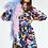 Thumbnail: Essentiel Zenguina Bordeaux,Paarse en Blauwe zijde jurk Combo1