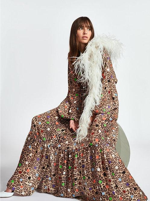 Essentiel Zebel Maxi Hemd jurk Met Luipaardprint Print
