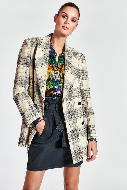 Essentiel Zanting Blazer in Geruit Tweed