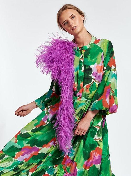 Essentiel Zebel Maxi Hemd jurk Met Aquarel Print