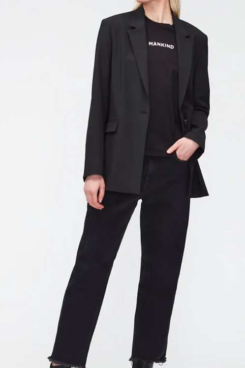 7 For All Mankind The Modern Straight Black JSANB340FA