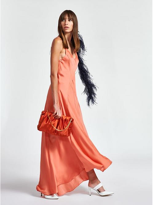Essentiel Zipmunk Slip jurk Maxi Oranje