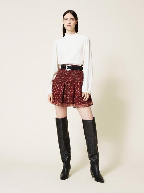 Skirt Animal Print Creponne 212TT2261