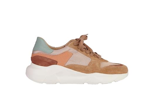Column Sneaker Camel+Clay+Aquamix