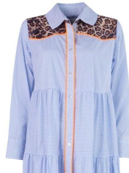 Leeandme  Soleil Shirtdress Stripes Blue