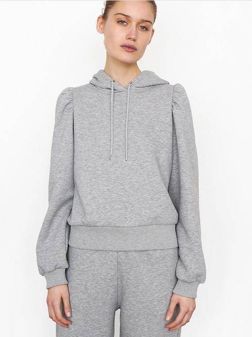 Carmella Sweater Hoodie Grey Melange