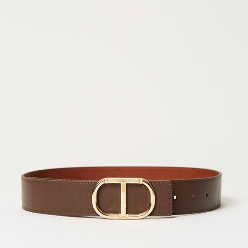 Twin set Leather Belt Logo