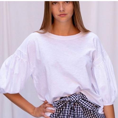 T-Shirt Ballonmouw White