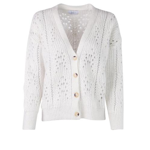 Kelly Cardigan Knitwear Ecru