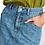 Thumbnail: Essentiel Zeva Studded Denim Skirt Summer Deep Sea DS04