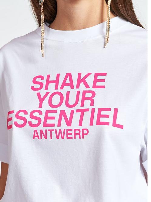 Essentiel Zologne T-Shirt Wit/pink Shake Your Essentiel