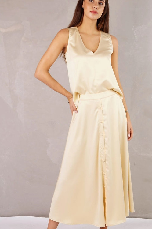 Valencia Skirt Satin Honey