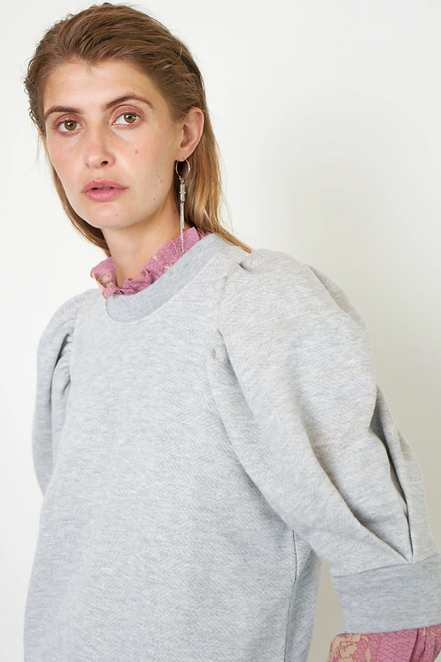 Dawni Sweater Tee Grey Melange