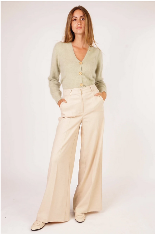 Mabel Trousers Viscose/Wool Ivory