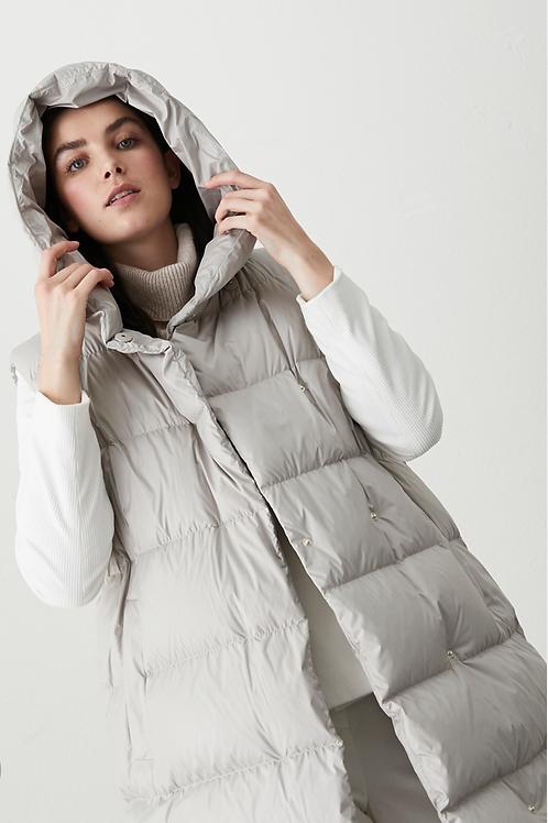 Sleevless Puffer Jacket Beige/grey Acerbo