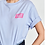Thumbnail: Essentiel Zologne T-Shirt Lichtblauw/Pink Take It Or Leave It