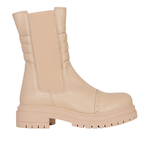 Showpiece Chelsea Combat Boot Ivory Leather