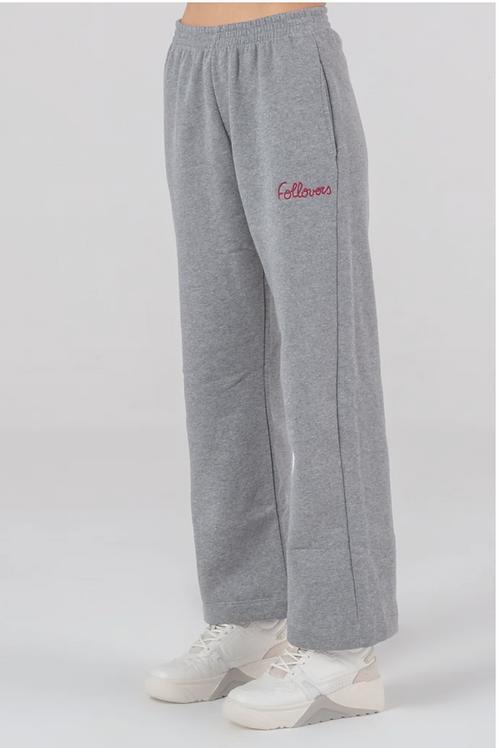 Follovers Karina Brush Straight Pant Grey