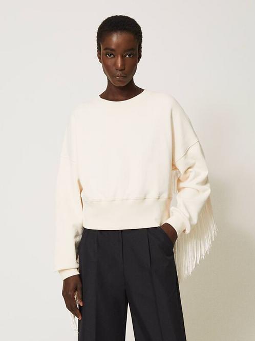 Twin Set Sweatshirt With Fringes  202TP265F