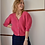 Thumbnail: Gilet Nick Short Sleeves Kristal Buttons Fucia