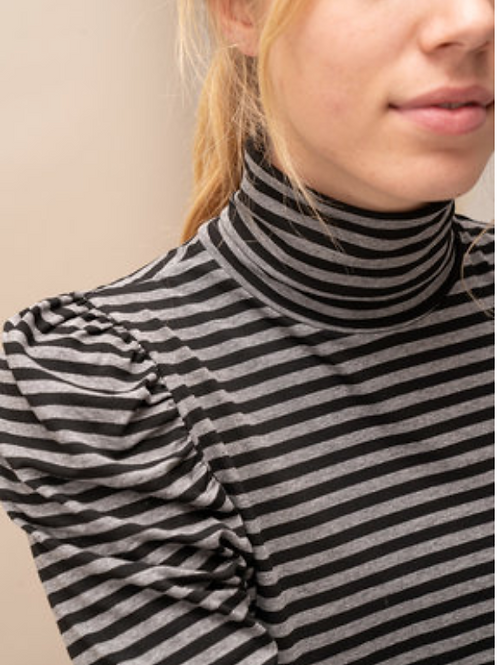 Sous Pull Suzy Striped Black/Grey