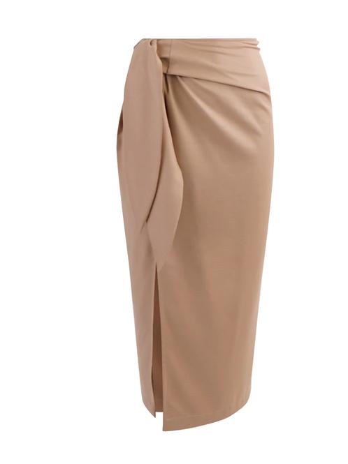 Rennes Twill Soft Camel Skirt